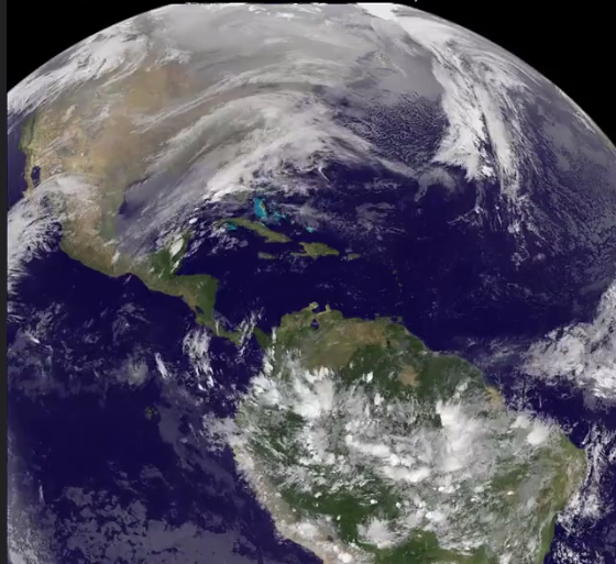 Watch NASA's awesome video from space of that nasty Nor'easter that's hitting New York and Boston