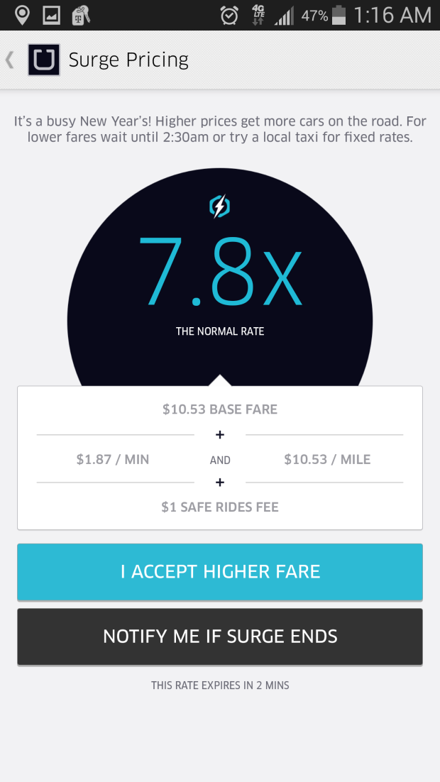 Here's how many trips Uber provided on New Years Eve 2014 ...