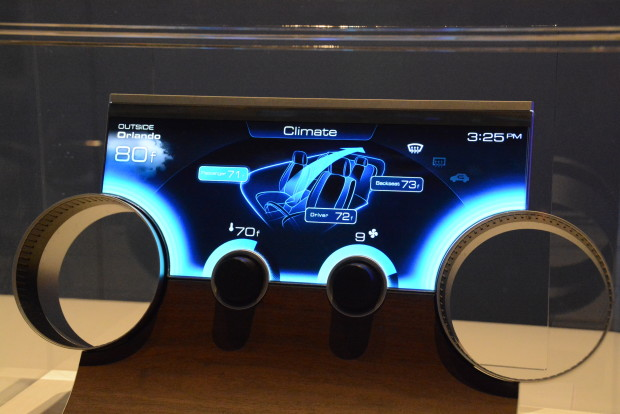 Sharp's automotive free-form LCD displays at CES 2015