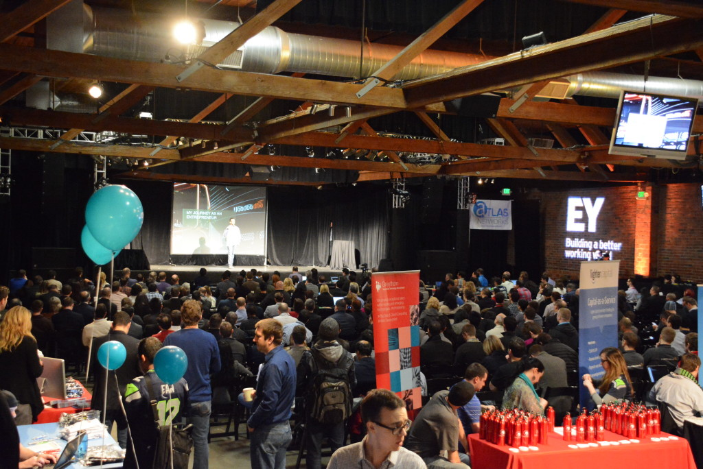 The crowd at GeekWire Startup Day 2015.