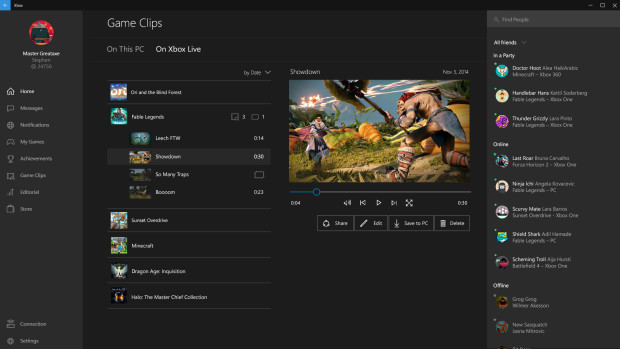 Xbox app for Windows 10 updated with support for Game Clips