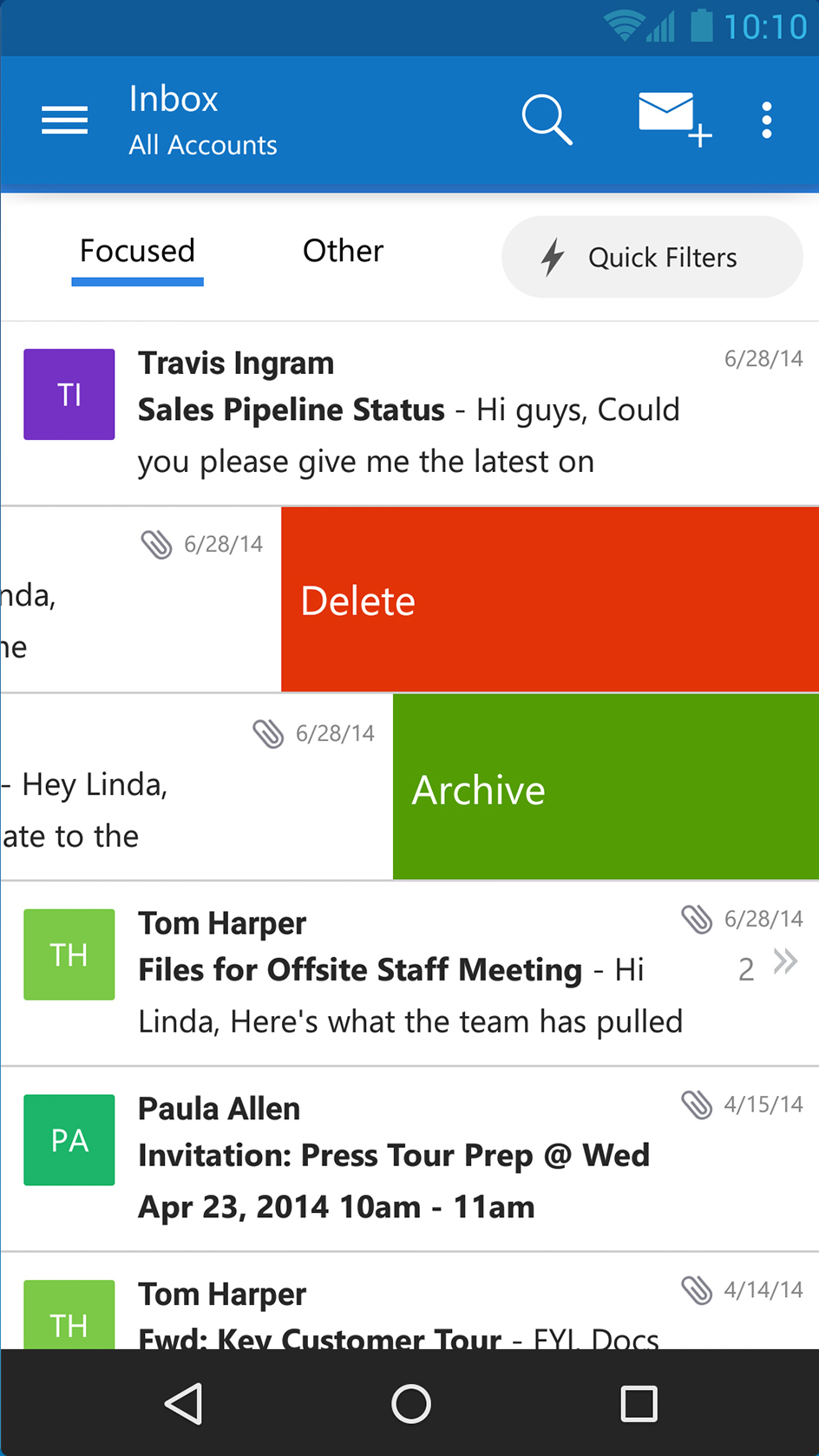 microsoft expands its email offerings on ios and android with new outlook app geekwire