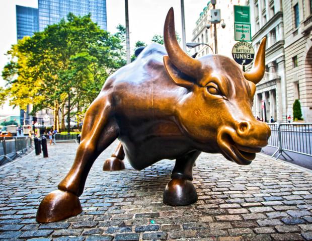 The bull of Wall Street. Photo via Shutterstock.