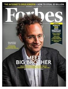 Palantir CEO Alex Karp on the cover of Forbes magazine.