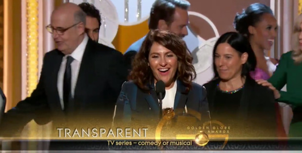 Transparent's Jill Soloway accepting Golden Globe