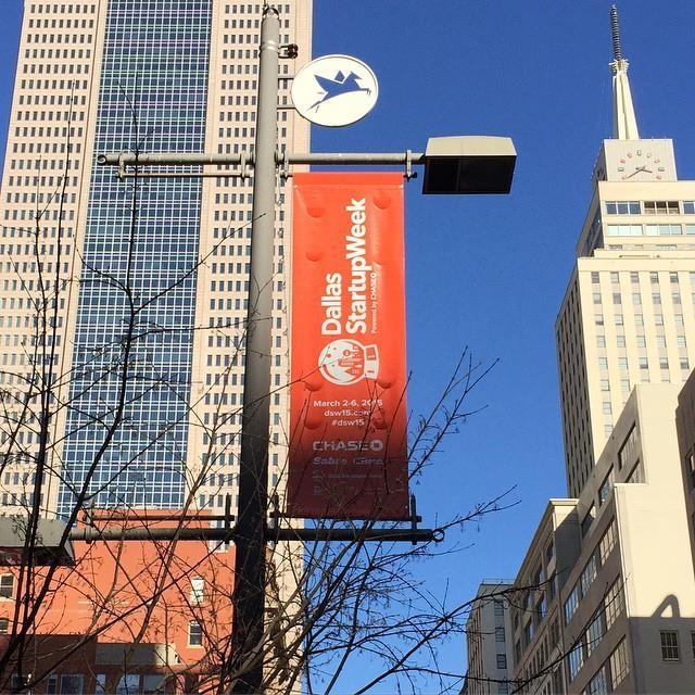 Startup Week posters are already lining the streets of Dallas. Photo via Michael Sitarzewski.