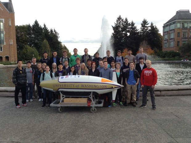 The UW Human Powered Submarine Team (photo UWHPS)