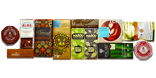 A sampling of Chococurb brands