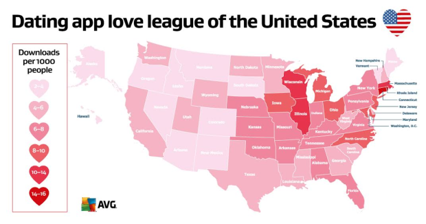 Most Popular Hookup Apps By State