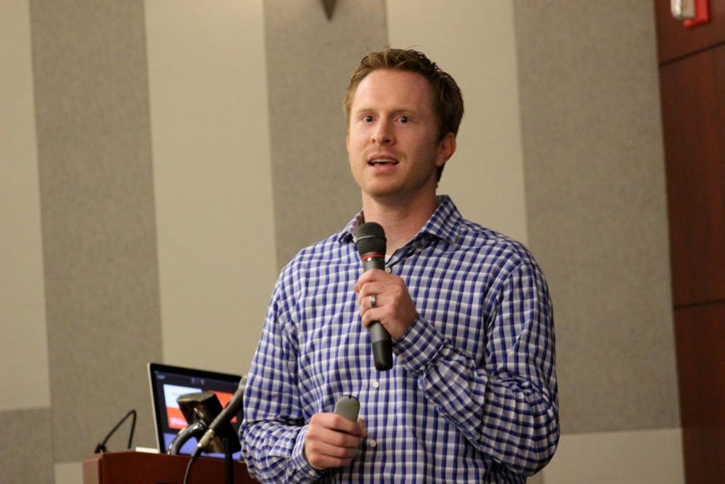 Ryan Naylor speaks at Phoenix Startup Week.