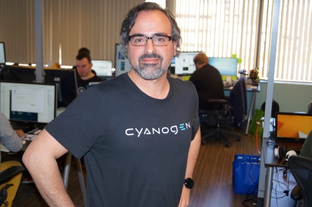 Cyanogen co-founder Steve Kondik in the company's Seattle office.