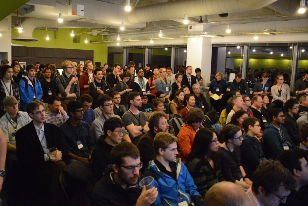 Crowd of developers at Hack Housing: Empowering Smarter Decisions