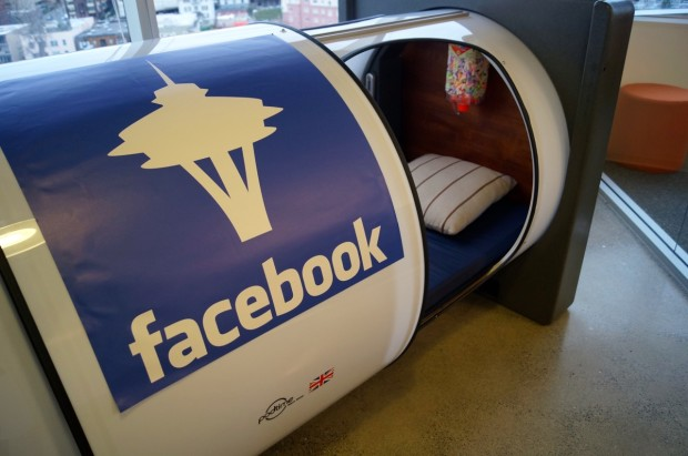 a private nap pod at facebook seattle just one of the perks available to interns