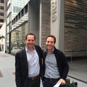 Trulia co-founder Pete Flint and Zillow CEO Spencer Rascoff. Photo via Instagram