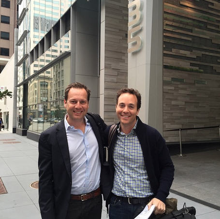 Trulia co-founder Pete Flint and Zillow CEO Spencer Rascoff. Photo via Instagram