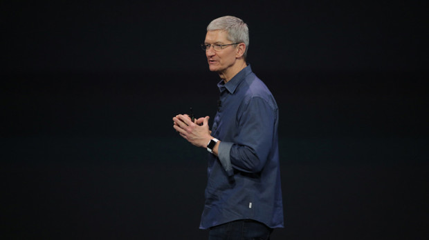 Tim Cook unveils the Apple Watch last year. (Photo: Apple)