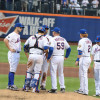 A typical mound conference happens at least a few times per game, on average. Photo via Flickr user slgc.
