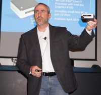 Chris Silva, the Director of Marketing for Intel's Premium Notebook division