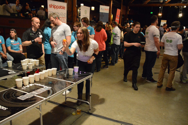 Beer pong will be back at the GeekWire Bash.