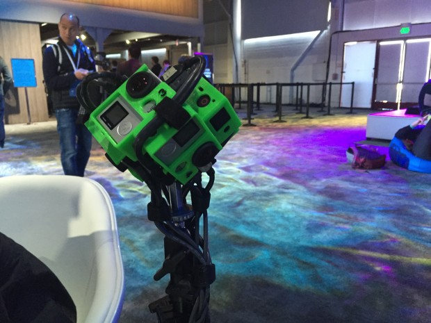 A version of the 360 degree camera rig used to power the Teleportation Station demo