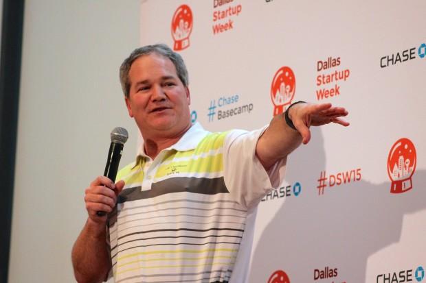 Lee Blaylock speaks at Dallas Startup Week.