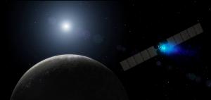 Photo via NASA/artist's conception of Dawn reaching a dwarf planet