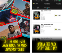 Photo via iTunes/Topps Star Wars: Card Trader