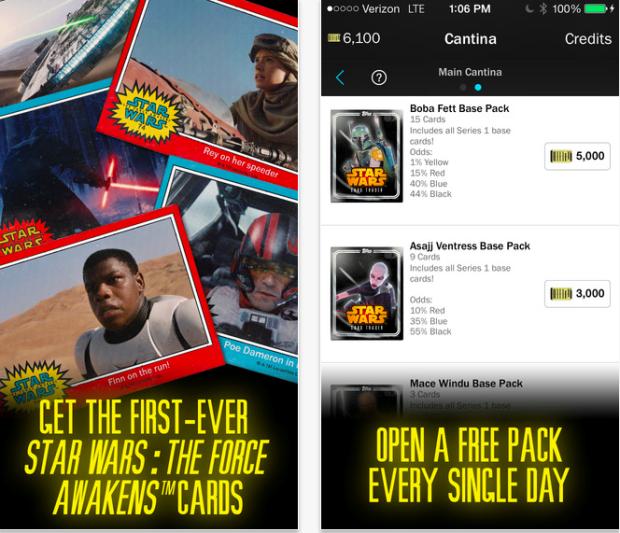 Photo via iTunes/Topps Star Wars: Card Trader