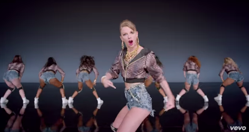 "Photo via YouTube/Taylor Swift ""Shake it Off"""