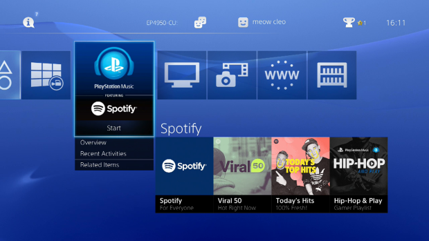 PlayStation owners can now stream Spotify music while