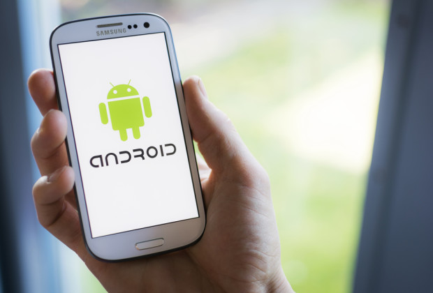 Android phone. Photo via Shutterstock.