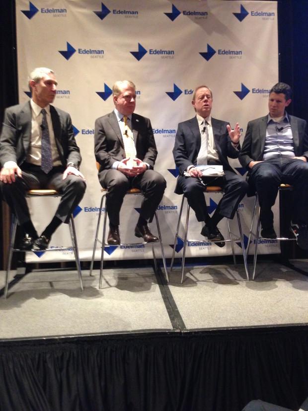 From left to right: Richard Edelman, Ed Murray, Frank Blethen and Matt Ehrlichman