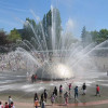 The International Fountain at Seattle Center where Microsoft's powerful new Wi-Fi network will help people better connect to their devices.