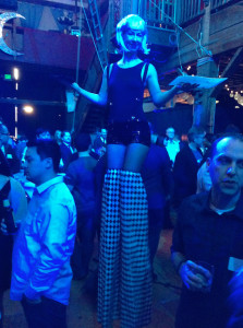 Appetizers on stilts at the Qumulo launch party