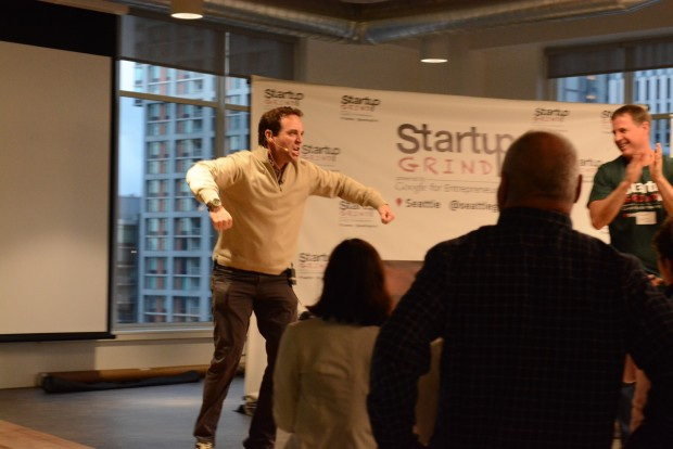 Zillow CEO does his best Hulk Hogan impression  at the Startup Grind event in Seattle.
