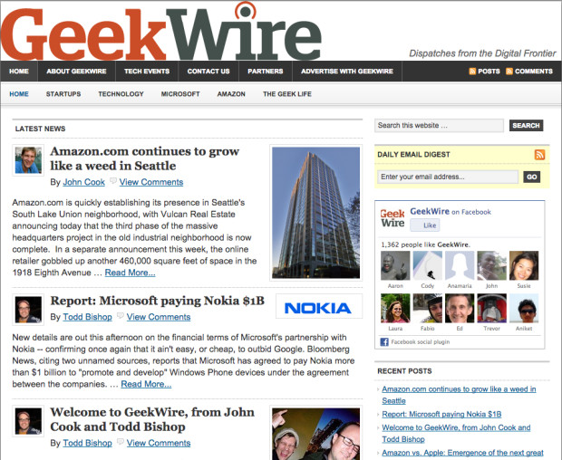 GeekWire's First Day