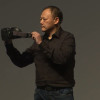 Peter Chou, HTC CEO, shows the new Vive headset, developed in partnership with Valve.