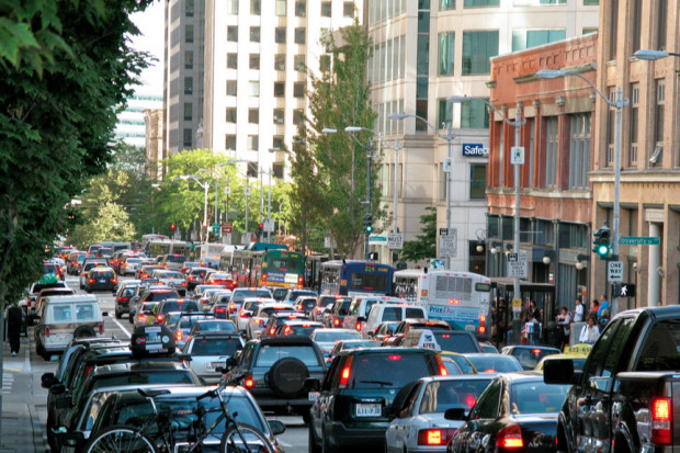 Uber-backed study touts benefits of downtown tolling in Seattle as ride-share industry pushes for congestion pricing | GeekWire