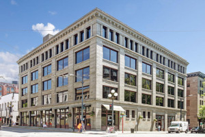 Galvanize has leased this entire building in Pioneer Square.