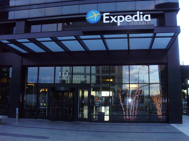 Expedia's existing Bellevue HQ. Photo by sporst, via Flickr.