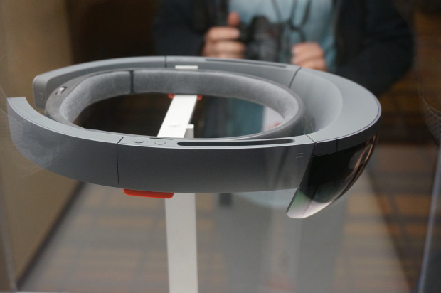 One of Microsoft's HoloLens units. We weren't allowed to take any photos of the class itself.