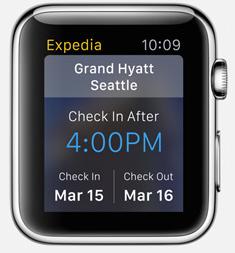 Expedia Apple Watch