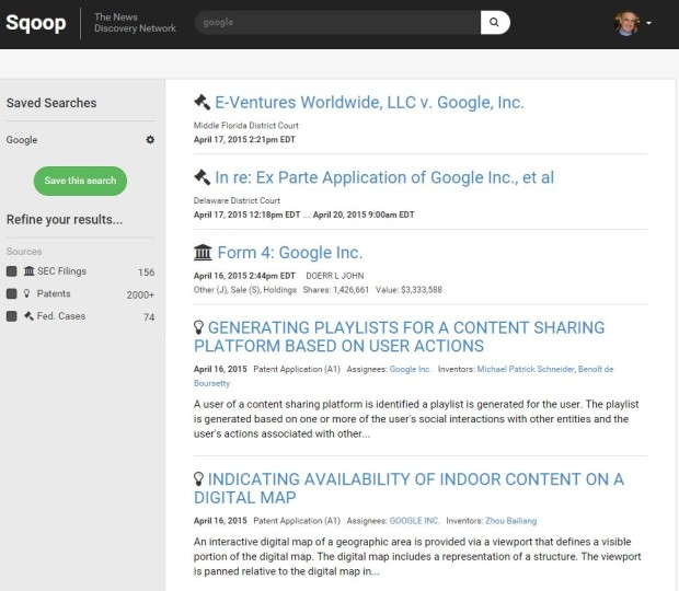 Google Detail Page for April 2015 release
