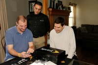 Sprint CEO Marcelo Claure delivers a mobile phone on-demand to a customer's home.