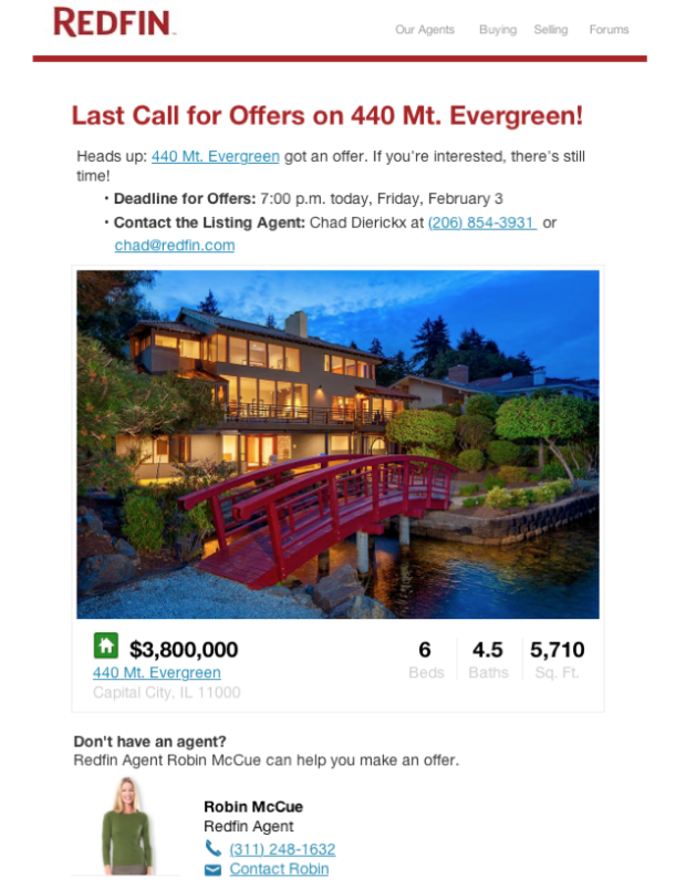 Redfin Last-Call-Email-Example