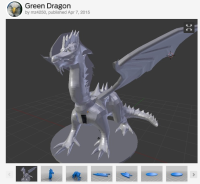 Photo via MakerBot Thingiverse/Green Dragon by mz4250