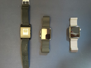One of these watches is not like the other. (Photo: GeekWire)