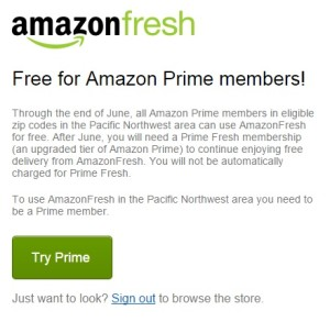 Now Amazon Prime members in Seattle don't have to sign up for Amazon Prime Fresh until June.
