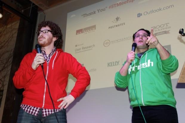New Tech Seattle organizers Red Russak and Brett Greene.