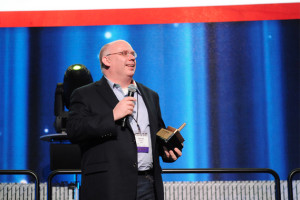 Darrell Cavens of Zulily at the 2013 GeekWire Awards., Zulily won the award the past two years.